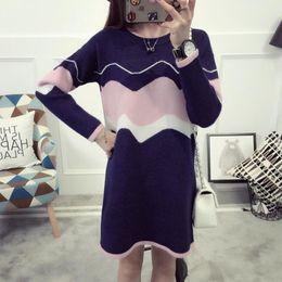 $enCountryForm.capitalKeyWord Australia - Fashion-new Pop Sale Women€s Autumn Winter Long Casual Knit Sweaters Woman College Wind Loose Sweater Dresses Women€s Loose Pull