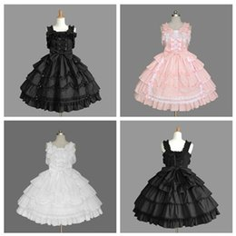 Discount sexy custom cosplay - Gorgeous Lovely Lace Lotus Leaf Pleated Cosplay Strap Backless Bandage Prom Dress Palace Wind Ball Gown 2018 Real Photo