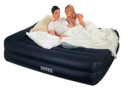 wholesale new intex bed 15220347cm two person double air mattress inflatable bed airbed camping mattress color box