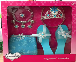 $enCountryForm.capitalKeyWord Canada - cosplay Crown princess shoes necklace  Fashion kids party  The little girl dresses up