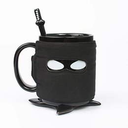 $enCountryForm.capitalKeyWord Canada - Personalized Ninja Style Ceramic Mug with Removable Adiabatic Band, with Cup Mats and Stirring Spoon Pottery Coffee Cup Office