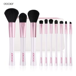 $enCountryForm.capitalKeyWord Australia - Docolor 10pcs Mermaid Brushes with Bag Professional White and Pink Makeup Brush Set Top Synthetic Hair Beauty Essentials Brush