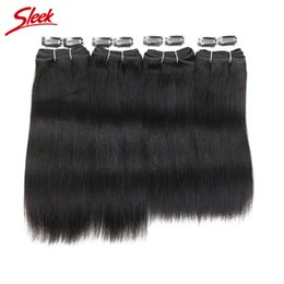 Sleek hair extensions wholesale online sleek hair extensions rebecca brazilian virgin yaki straight 4 bundles set 100 human hair extensions natural black color 1b 190g free shipping sleek brand pmusecretfo Gallery