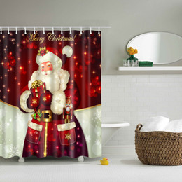 Curtains styles designs online shopping - 30 Styles Christmas Shower Curtains Snowman Santa Claus Designs Waterproof Polyester Bathroom Shower Curtains Bath Curtain