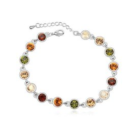 SwarovSki acceSSorieS online shopping - 18K Silver Plated Exquisite Bracelets Brand Jewelry Austria Crystal Accessories for Women Make With Swarovski Elements China