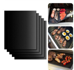 $enCountryForm.capitalKeyWord Canada - BBQ Grill Mat 5pcs lot Reusable Non Stick BBQ Grill Mat 40*33cm Sheet Portable Easy Clean OutDoor Cooking Tool Barbecue Liner