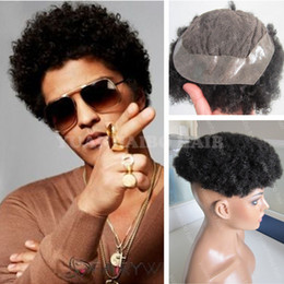 Indian Hair Wigs For Man Canada - Hot Sale 6inch Short Indian Virgin Human Hair Natural Black Afro Curl Toupee for Black Men Free Shipping