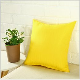 plain white pillow covers Canada - Popular cushion case square small pillow cover 40*40 cm plain candy color durable zipper polyester material soft touch comfortable