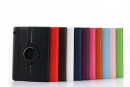 Litchi foLio cover case online shopping - Rotary Degree Rotating Litchi Folio Stand PU Leather Cover Case For Huawei MediaPad T3 KOB L09 KOB W09 Honor Play Pad inch Table