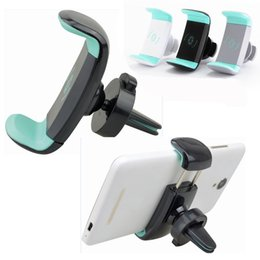 mobile cell phone holders 2019 - Mini Air Vent Car Mount Holder 360 Rotating Clip Stand For Mobile Cell phone iphone 7 Samsung S8 OTH510 cheap mobile cel