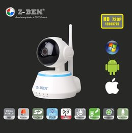 Tilt Wireless NZ - ZBEN 720P HD Mini P2P IP Camera IPDH09 Cam Z-BEN Wireless Wifi Cam Pan Tilt Two Way Audio Video Push Alarm on Motion Detection