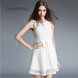 1a2fcb9dc6 Prom Girl Homecoming Dresses Canada - Girls beaded prom dresses White high  quality luxury style Graduation