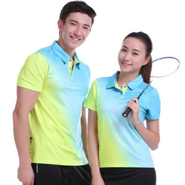 Polo Sportswear Australia - 2017 Sportswear Quick Dry Breathable Badminton Shirt Women Men Table Tennis Clothes Team Game POLO T Shirts Plus Size