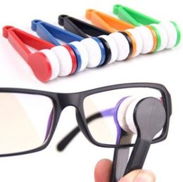 wholesale eyeglasses cleaner Australia - 3 Pcs Lot Portable Handle Eyeglass Sun Glasses Microfiber Spectacles New Cleaner Clean Wipe Eyeglass Cleaner