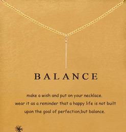 Card Balance NZ - With card! cute Dogeared Necklace with vertical pendant (balance), noble and delicate, no fade, free shipping and high quality.