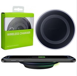 $enCountryForm.capitalKeyWord Canada - Universal Qi Wireless Charger Newest Charging Adapter Receiver Pad For IPHONE 8 8+ Samsung Note Galaxy S6 s7 Edge mobile pad with package