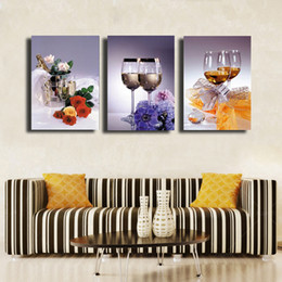Hd Pictures Glasses Canada - 3 Pcs Set glass HD Picture Modern Home Wall Decor Canvas Print Painting For House Decorate #22