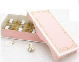 biscuits pack 2018 - Wholesale-Bing,23*11.5*5cm Pink gold foil paper gift box wedding packing, cake Cookies Biscuits High-grade gift packing