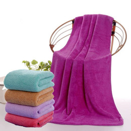 travel compressed beach towel UK - Superfine Microfiber Bath Towels Beach Drying Bath Washcloth Shower Towel Travel Big Towels For Adults Shower Tool 70x140cm