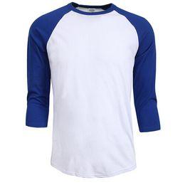 China Hot sale summer autumn Men O-Neck 100% Cotton T-shirt Men's Casual Sleeve Tshirt Raglan Jersey Shirt man cheap jersey hot suppliers