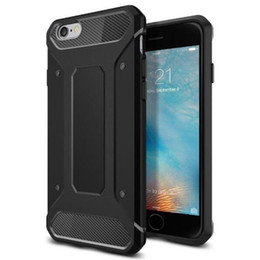 rugged gps UK - 2017 GP Neo Rugged Armor Case Soft TPU Carbon Fiber Shockproof Shell Cover Case for iPhone 6 6S plus with OPP Package