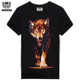 Animal Print Top Para La Venta Baratos-Hot Sale Brand New Fashion Summer Men T-shirt 3D Print Nightmare Tigre de Manga Corta Tops casuales Camisetas Hombre Más Tamaño Camisas