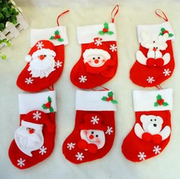 thin knives 2019 - Christmas decorations Christmas knife and fork sets of gift bags Christmas pull velvet three small socks G675 cheap thin