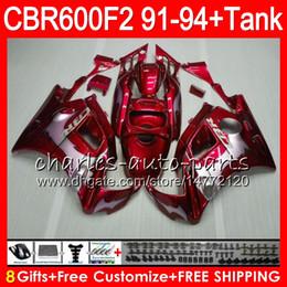China 8 Gifts 23 Colors For HONDA CBR600F2 91 92 93 94 CBR600RR FS 1HM45 red silver flames CBR 600F2 600 F2 CBR600 F2 1991 1992 1993 1994 Fairing cheap 93 honda cbr f2 suppliers
