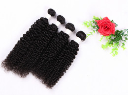 $enCountryForm.capitalKeyWord Canada - Grade 8A--Jerry curl remy Hair Weave natural color 1B# 80g pcs 3PC LOT 100% Human Brazilian Double weft hair Free DHL