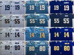 40027d4f Throwback Football Jerseys 14 Dan Fouts Jersey Vintage 55 Junior Seau 19  Lance . ...