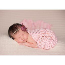 Filler Flowers NZ - 40*60cm Cotton Filler Braid Blanket Basket Stuffer Newborn Photography Props 3 colors Baby Shower Gift ZQY001