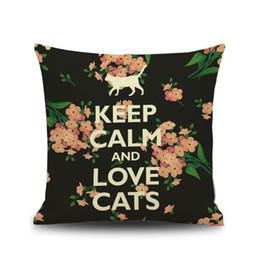 "$enCountryForm.capitalKeyWord Australia - High Quality Linen Cushion Cover Throw Pillow Case 45CM*45CM Size 18"" Length Printing Black Cat Catty Pretty Sofa Bed Use Decorative Home"