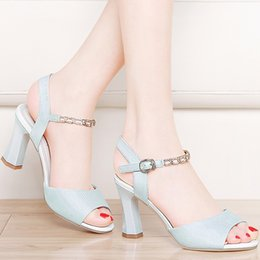 DiamonD strap high heel shoes online shopping - Centenary monks toe shallow mouth sandals diamond high heeled women sandals word buckle with female shoes