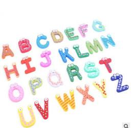 $enCountryForm.capitalKeyWord Canada - 40sets Children Kids English Alphabet Refrigerator Magnets Big Anti-Rust Thickened Baby Wooden Fridge Magnet Magnetic Sticker