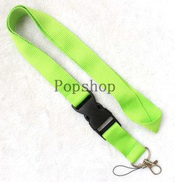$enCountryForm.capitalKeyWord Australia - Pure color! Lanyard Keychain Key Chain ID Badge cell phone holder Neck Strap green and magenta. free shipping