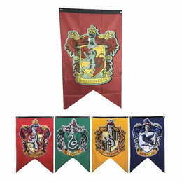 Party Supplies College Flag Banners Gryffindor Slytherin Hufflerpuff Ravenclaw Boys Girls Kids Gift Room Decoration