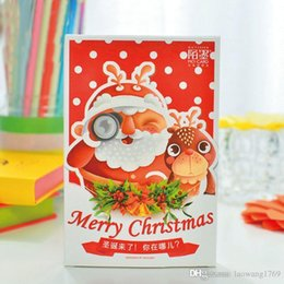 30pcs box christmas is coming where are you christmas new year greeting card postcards message card gift card