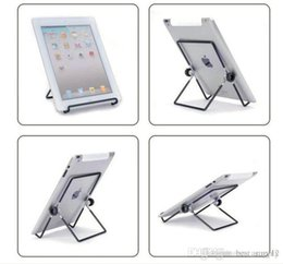 Adjustable Metal Stand For Tablet Australia - best Iron Metal Adjustable Folding Holder Stand For A13 Q88 Android tablet PC smart phone Hotsale free shipping