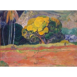 popular art oil painting UK - popular modern art At the Foot of the Mountain by Paul Gauguin Oil Painting reproduction High quality Hand painted