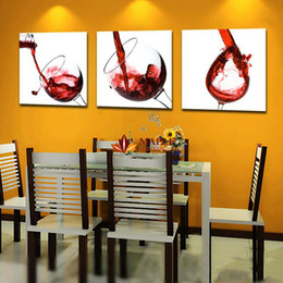 $enCountryForm.capitalKeyWord Canada - 3 Pcs Canvas Prints Wall Decor Canvas Art Wine Glass Painting Picture for Living Room Home Wall Art -- Large Canvas Art Cheap