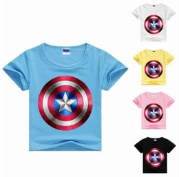 Chinese  chandail enfants 2017 boys t shirt avengers kids tops american captain t-shirt children clothing girls tshirt 100% cotton MS1104 manufacturers