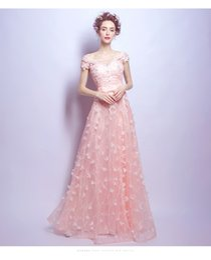 2017 powder pink wedding dress chinese handmade sewing powder pink lace petals bride wedding dress wedding