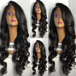 Virgin Hair Wigs For Sale Canada - Hot Sale Brazilian Full Lace Human Hair Wigs For Black Women Deep Wave Glueless Full Lace Wigs Virgin Hair Lace Front Wigs