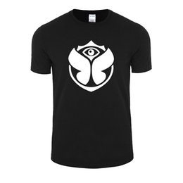 wholesale rock band t shirts UK - Wholesale- Are the 2017 Summer Cotton Short Sleeved Tomorrowland rock band movement of men's casual wear short sleeved T-shirt printing