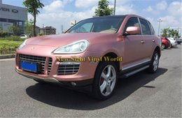 car rose sticker Canada - Best Quality Electric Chrome Rose Gold Car Vinyl Wrap Foil For Car Styling Air Bubble Free