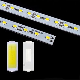 White cover led strip online shopping - DHL Fedex m led rigid strip light led bar light SMD5630 DC12V m leds U Channel aluminum slot without cover showcase light