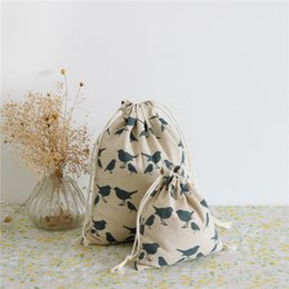 $enCountryForm.capitalKeyWord Canada - Wholesale- YILE Cotton Linen Draw String Sorted Bag Travelling Clothing Storage Jewellery & other GIFT Bag Blue Pigeon Size-choosing