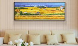 $enCountryForm.capitalKeyWord Canada - Vincent Van Gogh Famous Autumn Harvest Cottage Landscape Art Paints Poster Wall Picture Canvas Oil Painting No Framed Home Decor