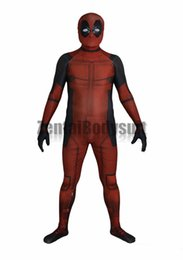 costume deadpool lycra NZ - 3D Deadpool Costume Bodysuit Printed Spandex Lycra Zentai Costumes with Muscle Shading
