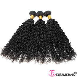 $enCountryForm.capitalKeyWord NZ - Human Hair Weave Kinky Curly Brazilian Virgin Hair Bundles 3 Bundles Human Hair Extensions Natural Color DREAM DIANA